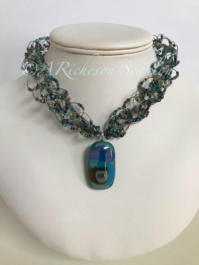 Dreaming in Cerulean Necklace