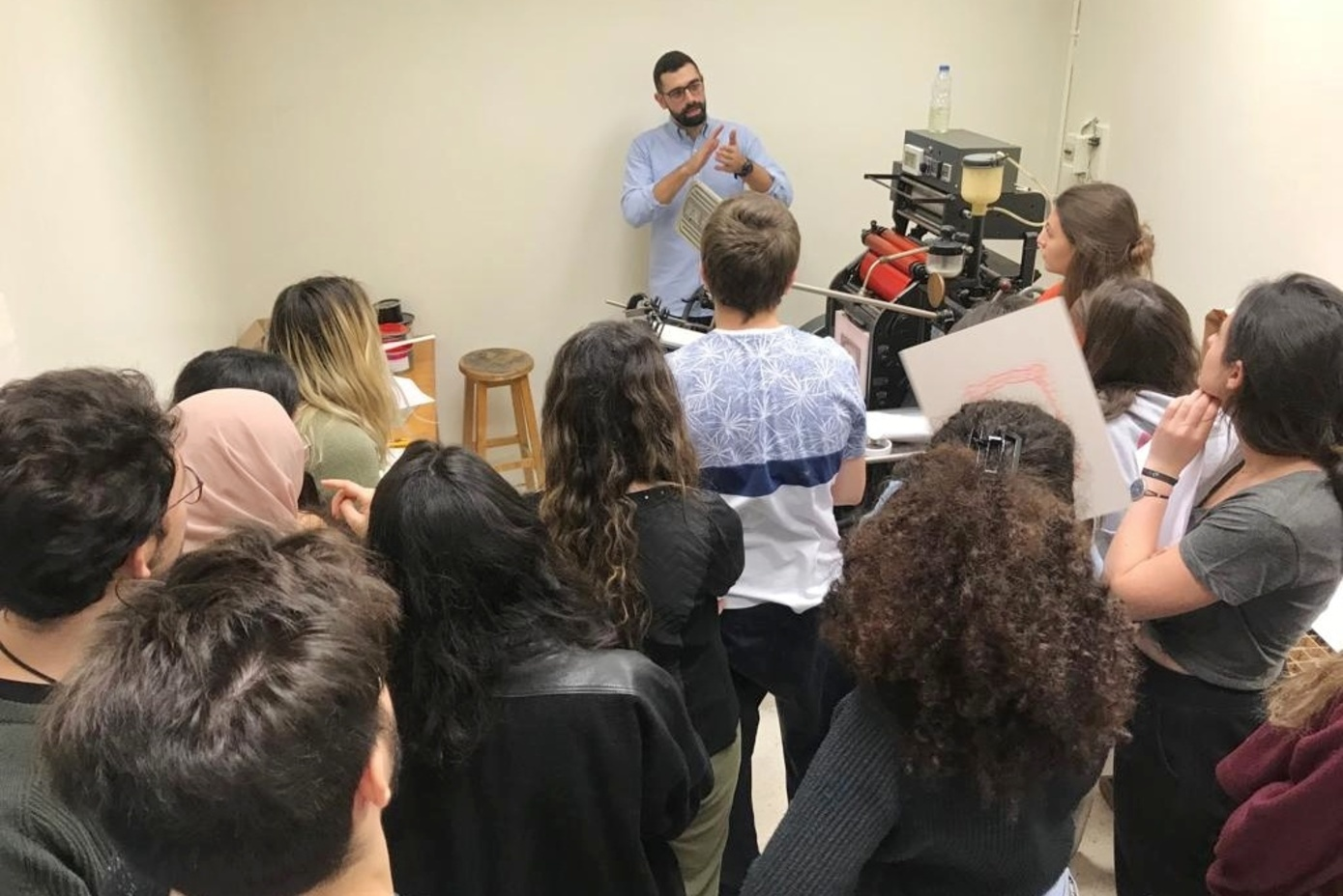 Letterpress class at the AUB
